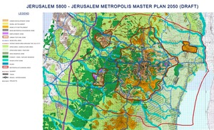 Jerusalem Metropolis Master Plan Map